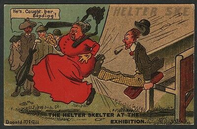 k1737)     COMIC POSTCARD - THE HELTER SKELTER AT THE EXHIBITION FROM 1909