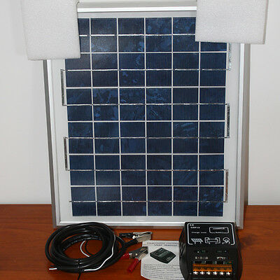 Solar Panel battery charger with 10amp regulator