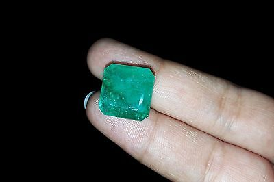 eBay good Looking 11.35 Ct Ring Size Certified Colombian Emerald Gemstone