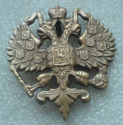 Police Hat Big badge Two Head Eagle Nicholas II Russian Imperial cocarde