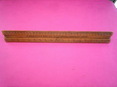 Vintage Antique J. ARCHBUTT & SONS Wooden Triangular Scale Ruler 6 inches