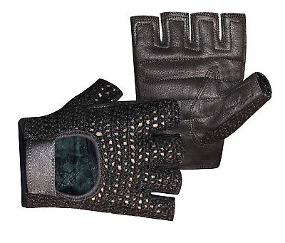 Leather Weight Lifting Padded Gloves Fitness Training Body Building Gym  Glove