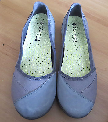 Columbia Pfg Sunvent Techlite Grey Leather Ballet Flats In Ec Size Eur 40