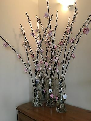 Tall Glass Vases x14. Wedding Centre Pieces
