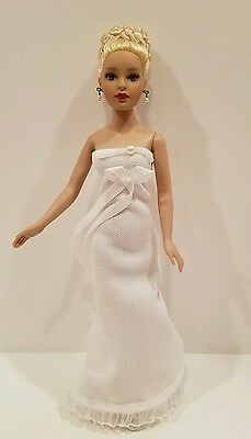 """Beautiful Blonde Tonner 10"""" Tiny Kitty Collier Doll in Original White Gown"""