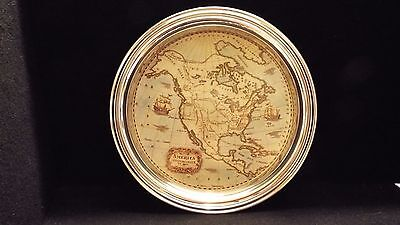 """America Settentrionale Ca 1800 ~ Shows North America As It Was ~On 11-1/2"""" Tray"""