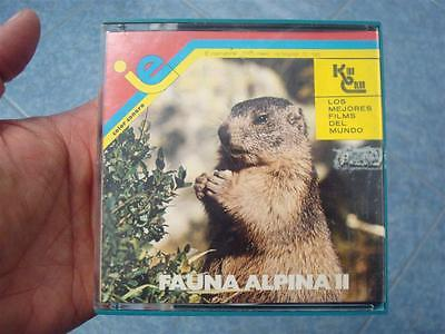 FAUNA ALPINA II CORTOMETRAJE- documental --SUPER 8 MM –VINTAGE FILM