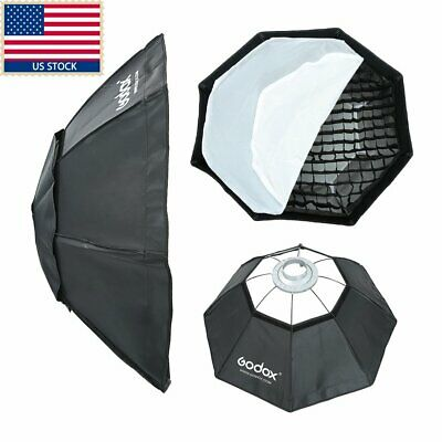 Godox Octagon 95cm Grid Honeycomb Softbox Studio Strobe Bowens Mount Speedring