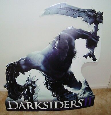 CARDBOARD STAND up Promotional DISPLAY DARKSIDERS cutout PS3 XBOX