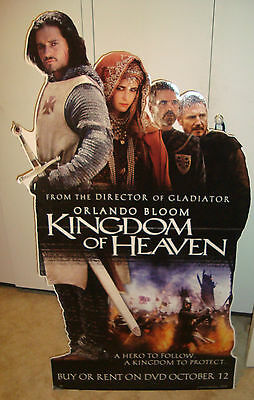CARDBOARD STAND up Promotional DISPLAY kingdom of heaven Orlando Bloom cutout