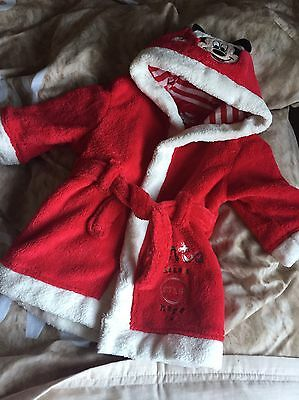 Disney Store Mickey Mouse Dressing Gown 6-9 Months