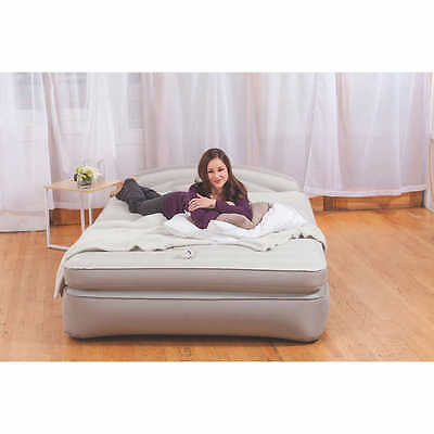 AeroBed Opti-Comfort Queen Air Mattress with Headboard Camping Airbed outdoor