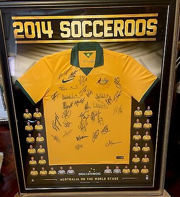 2014 Socceroos World Cup Jersey Signed and Framed