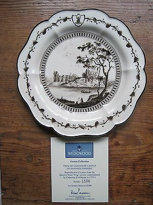 Wedgwood Catherine The Great Frog Service Plate - Chepstow Castle Monmouthshire