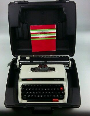 Brother Deluxe 1613 Typewriter in Hard Carry Case, Made In Japan - Fast Dispatch