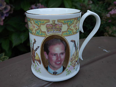 Aynsley China Mug to commemorate the 30th Birthday of Prince Edward in 1994