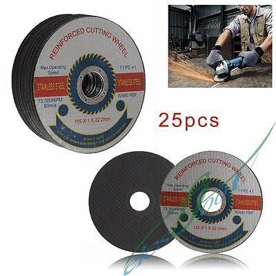 "10-25pcs 115mm/4.5"" Reinforced Cutting Wheel Blade Disc Stainless Steel Grinder"