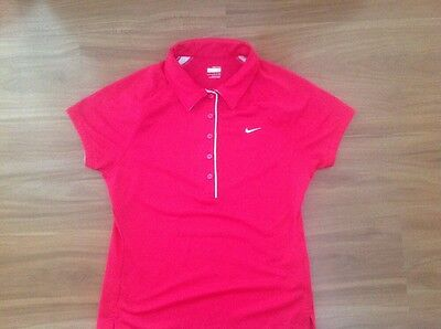 Nike Fitdry Womens Tennis/golf Polo Top Size S In Excellent Condition