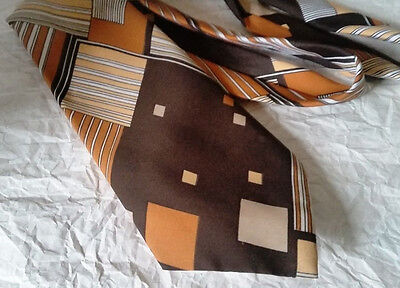 Retro Vintage Mens Ties x 4 -  WIDE WIDE WIDE polyester Officla Playboy tie