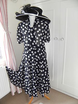 Alexon navy spot skirt and top size 10 worn once