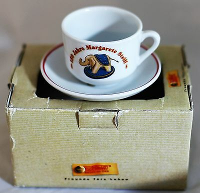 Commemorative 150 years Margaret Steiff Roehler Collection cup & saucer in box