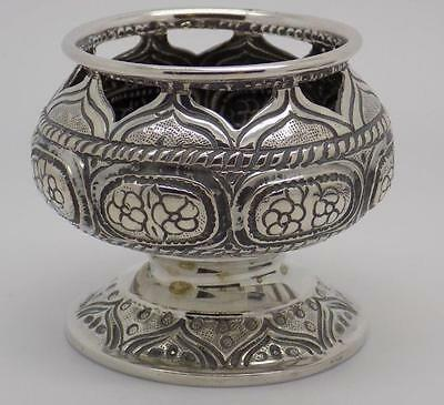 Vintage Solid Silver Beautiful Decorated Candy Bowl - Stamped - Italian Made