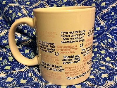 Things Not To Say To A Horse Owner Coffee Cup Mug Witty Sayings Clever Jokes