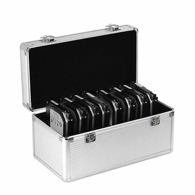 "Aluminum 14Bays 2.5""/3.5"" HDD SSD Hard Drive Storage Case Travel Protection Box"