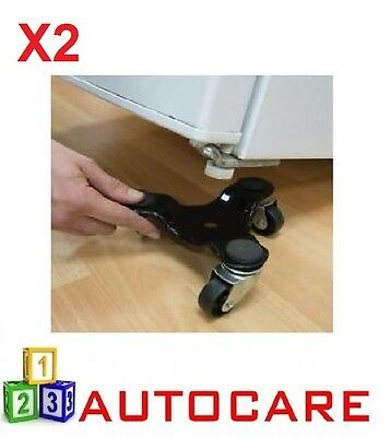 2x 3 Wheeled Furniture Moving Dolly 60 Kg Load