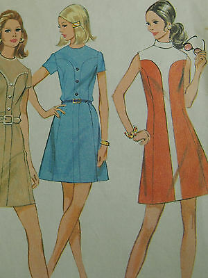 vintage McCalls pattern 2357 dress with  two colour guide size 14