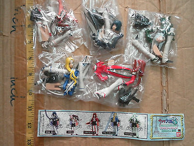 Bandai Sakura wars 3 game mini figure gashapon x5 open