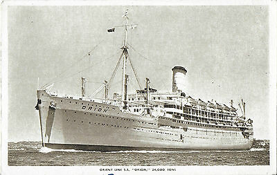 RP Card ORIENT STEAM NAVIGATION S.S. ORION – Orient Line Card - Unposted