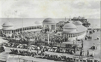 RP Card HASTINGS PIER & BANDSTAND - Valentine's Card - Posted 1919