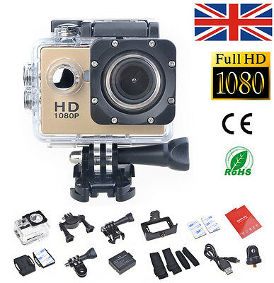 H.264 FHD 1080P Sports Action Camera Video DVR Bike Helmet Cam Waterproof