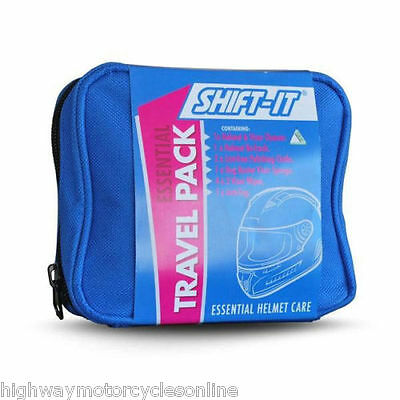 Shift It Motorcycle Motorbike Cleaning Travel Pack Helmet Care christmas gift