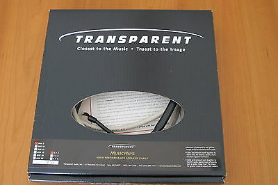 TRANSPARENT MUSICWAVE Speaker Cable (New).