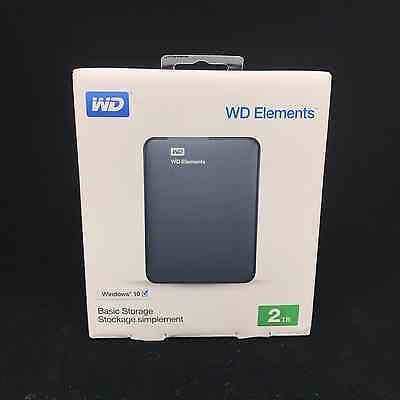 "Western Digital WD Elements 2TB 2.5"" USB 3.0 Portable External Hard Drive HDD"