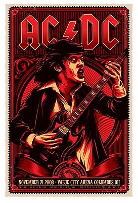 Limited Edition AC/DC Gig Poster MOUSEMAT Mouse Mat NEW ac dc