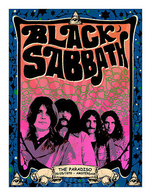 Limited Edition Black Sabbath Gig Poster MOUSEMAT Mouse Mat NEW ozzy osbourne