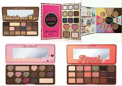 New Too Faced Face Palette Love Rouge Pressed Powder Chocolate Sweet Eye Shadows
