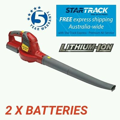 Cordless Blower 20V 2 Batteries Fast Charger Free Post