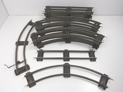 French Hornby O Gauge Clockwork Curved & Straight Track - 16 pieces