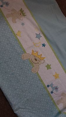 Blue Teddy Cot Bed Duvet Cover