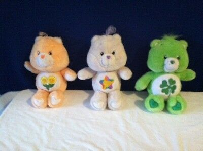 "Vintage CARE BEARS 13"" - LOT of 3"