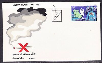 Thailand 1980 Stop Smoking  First Day Cover - Unaddressed