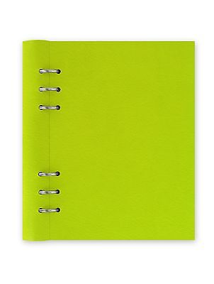 A5 Filofax Pear Green Clipbook Refillable Notebook Binder Leather Look Cover