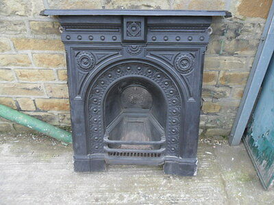 large full antique cast iron fireplace open fire surround victorian bedroom fire