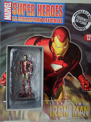 "Figurine Plomb Marvel # 12 "" IRON MAN "" Eaglemoss Classic Super Hero Collection"