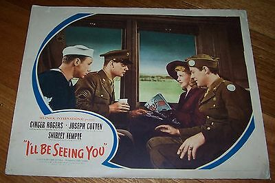 "Lobby Card - Shirley Temple, Ginger Rogers - I'll Be Seeing You"" - Circa 1944"