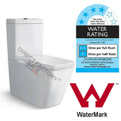 Toilet Suite Back to Wall Ceramic S / P TRAP Bathroom WELS WATERMARK Durable NEW